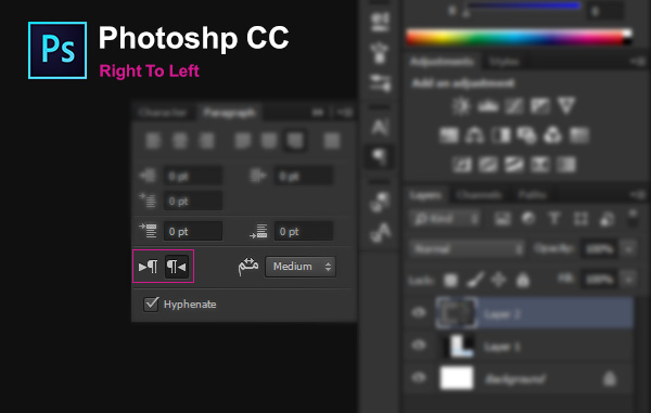 view_Right_To_Left_Photoshop_cc